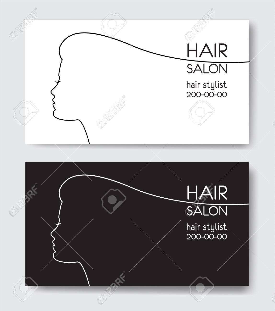 Hair Stylist Business Card Template from previews.123rf.com