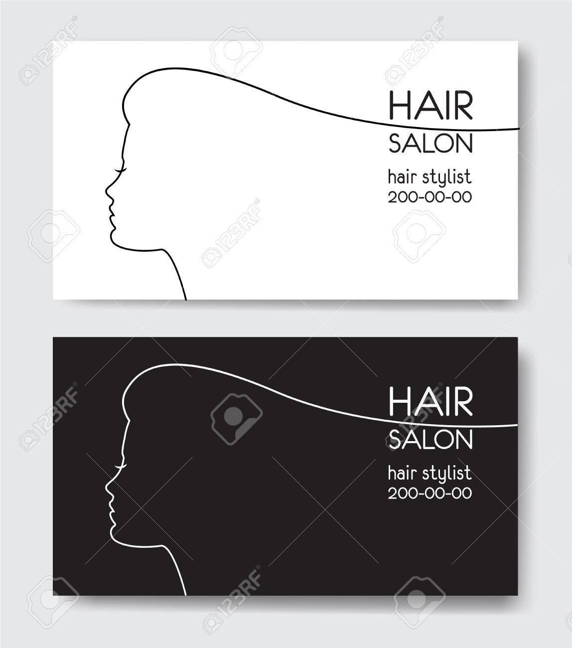 Hair Salon Business Card Templates Stock Vector