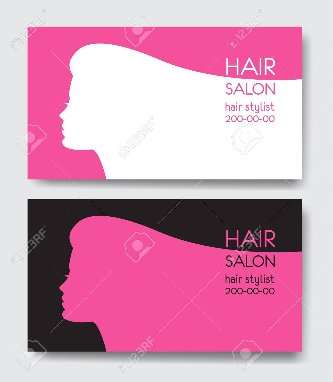 Hair salon business card templates royalty free cliparts vectors hair salon business card templates stock vector 76498015 accmission Choice Image