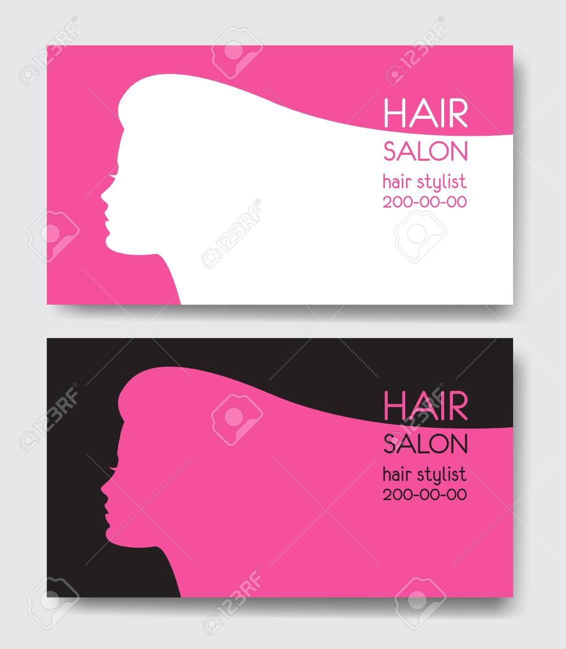 Hair Salon Business Card Templates Royalty Free Cliparts Vectors