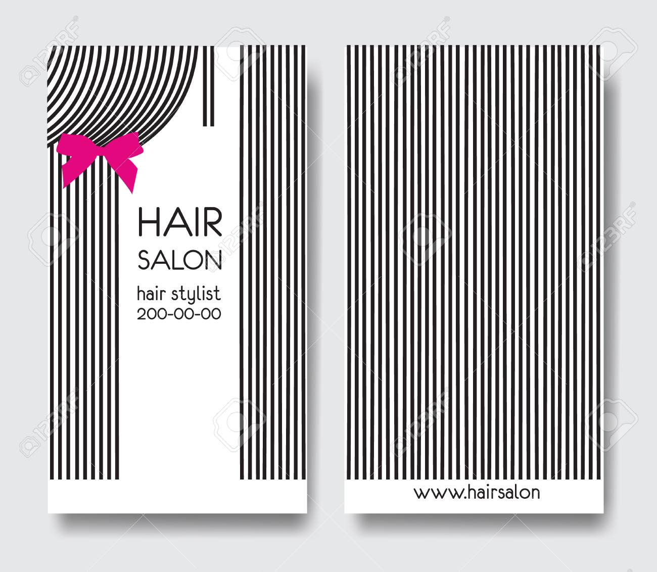 Template design business card with long straight hair and bow template design business card with long straight hair and bow business card front and back colourmoves