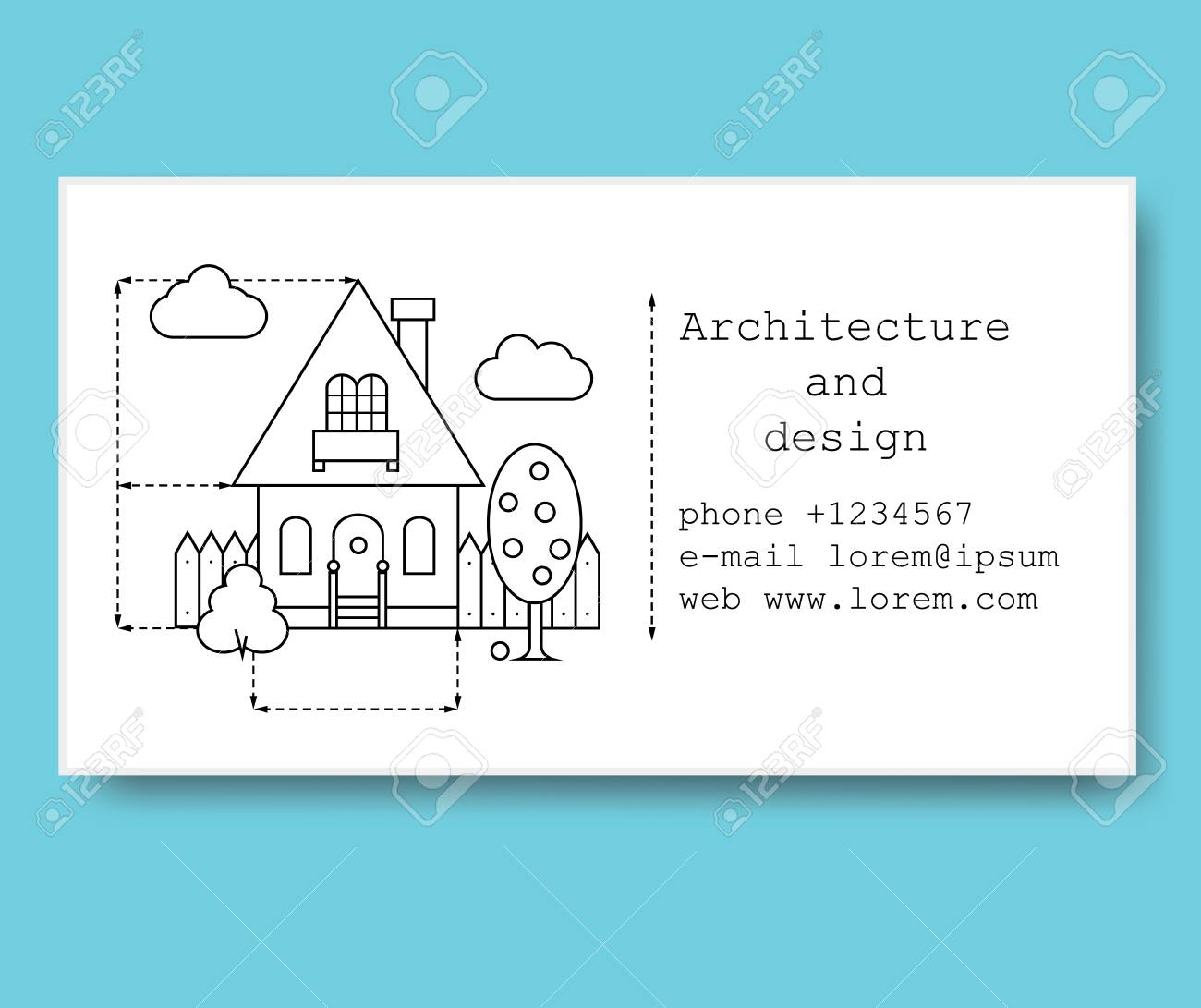 Business card template for construction company or architect business card template for construction company or architect business card in black and white style reheart Gallery