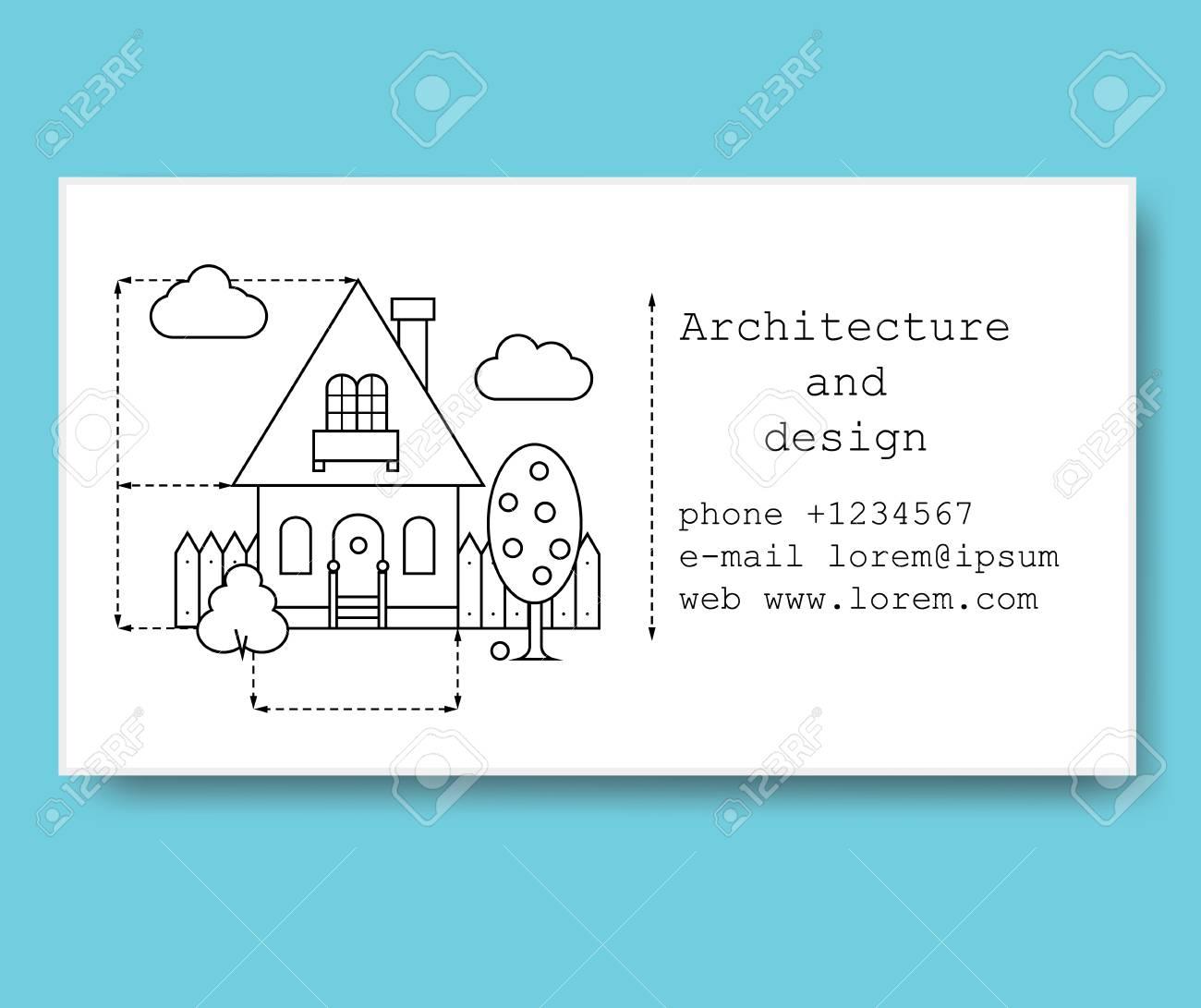 Modele De Carte Visite Pour Entreprise Construction Ou Architecte Dans