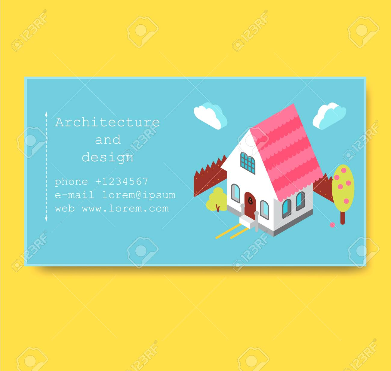 Business card with isometric house royalty free cliparts vectors business card with isometric house stock vector 89611676 colourmoves