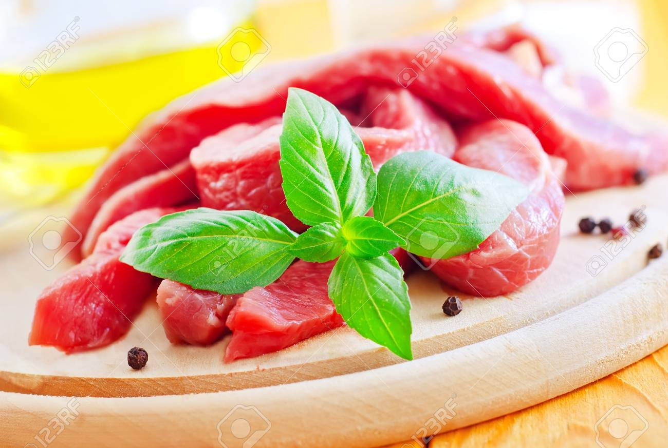 raw meat on the wooden board Stock Photo - 16397681