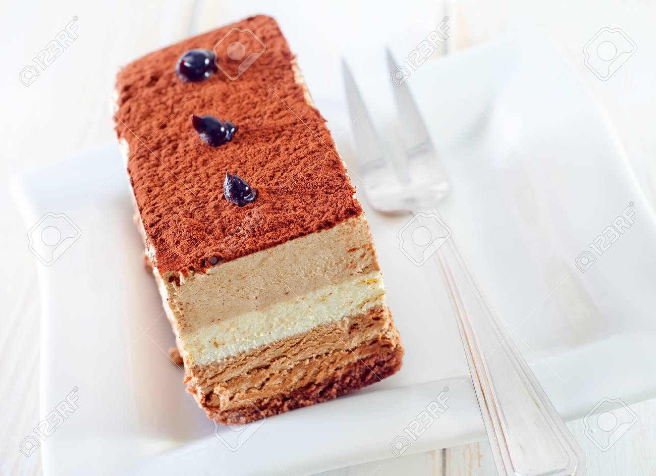 cake with chocolate Stock Photo - 17536338