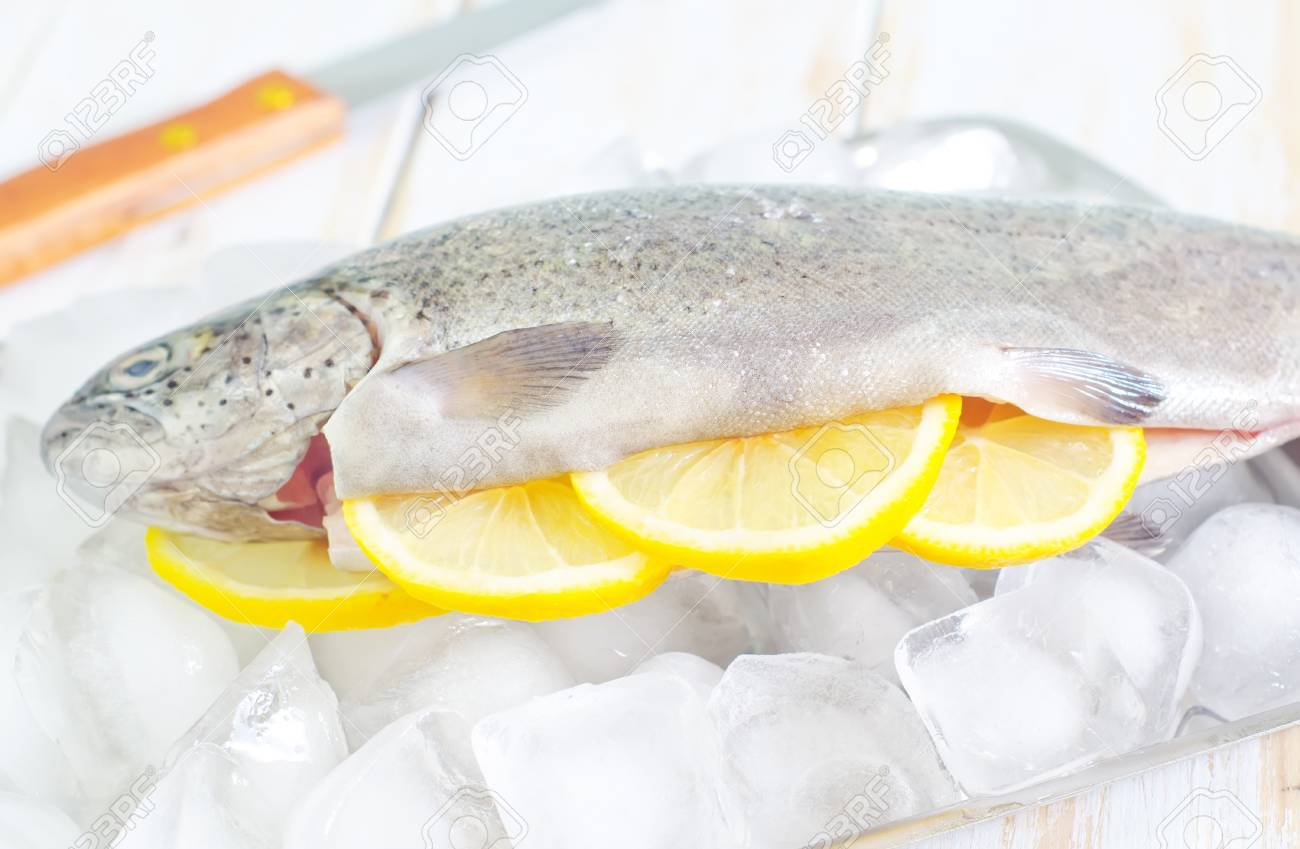 raw trout Stock Photo - 20198740