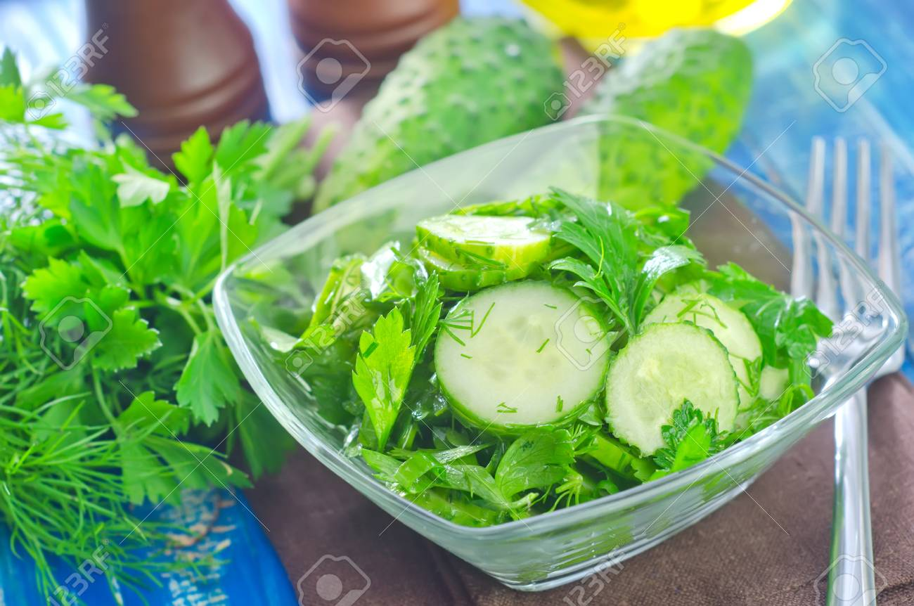 salad from cucumber Stock Photo - 23062587