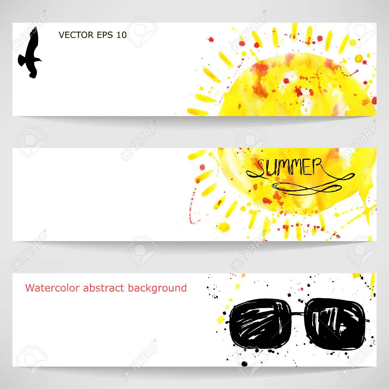 741c7bb472 Con Gafas Abstracto Banner Sol Ilustración Y Vector De On0yvm8wN