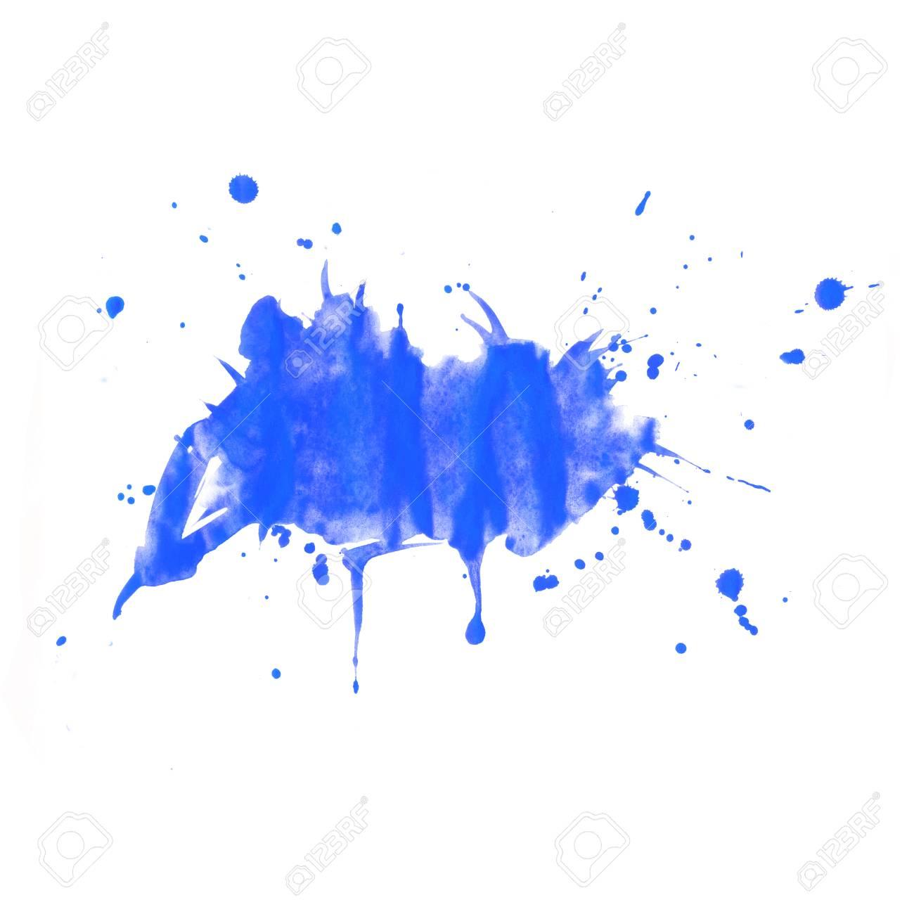 Immagini Stock Priorità Bassa Dellacquerello Schizzi Blu E