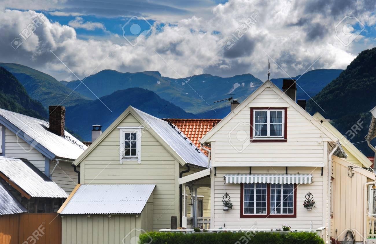 Village in Norvegian fjords Stock Photo - 7947871