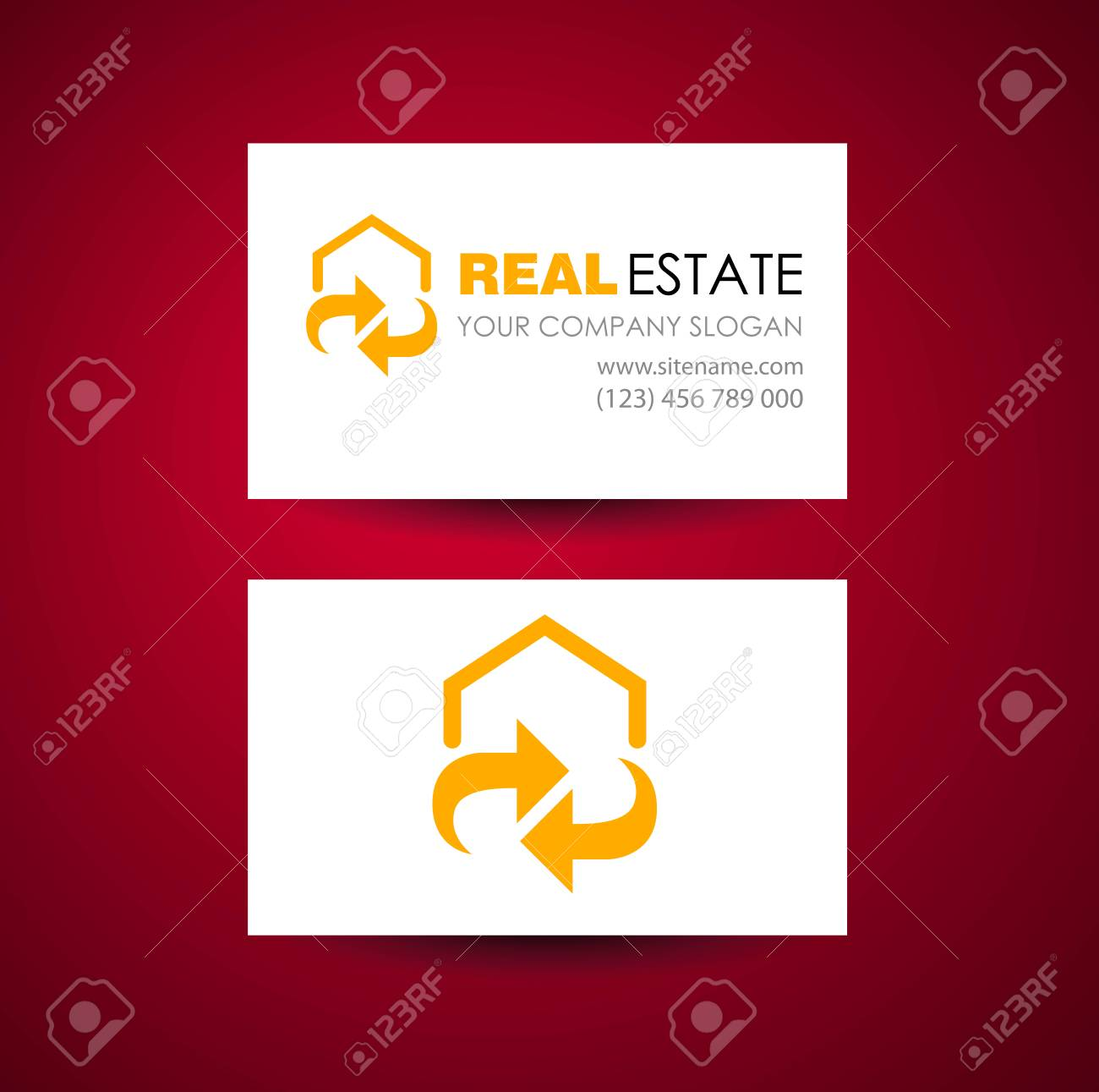 Eco Home And Real Estate Logo Template. Business Card Design ...