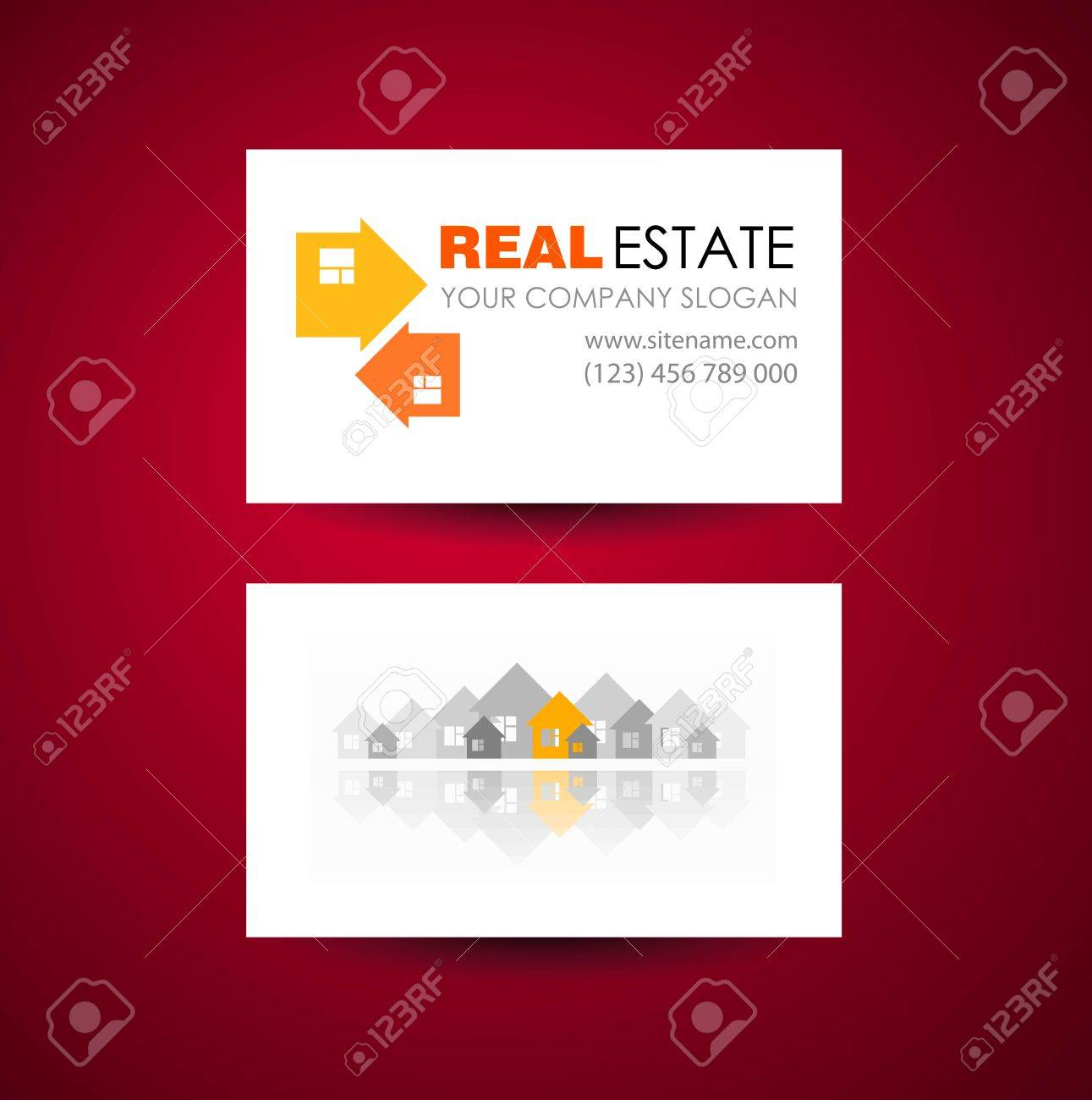 Eco Maison Et Immobilier Logo Modle Carte De Visite Ide