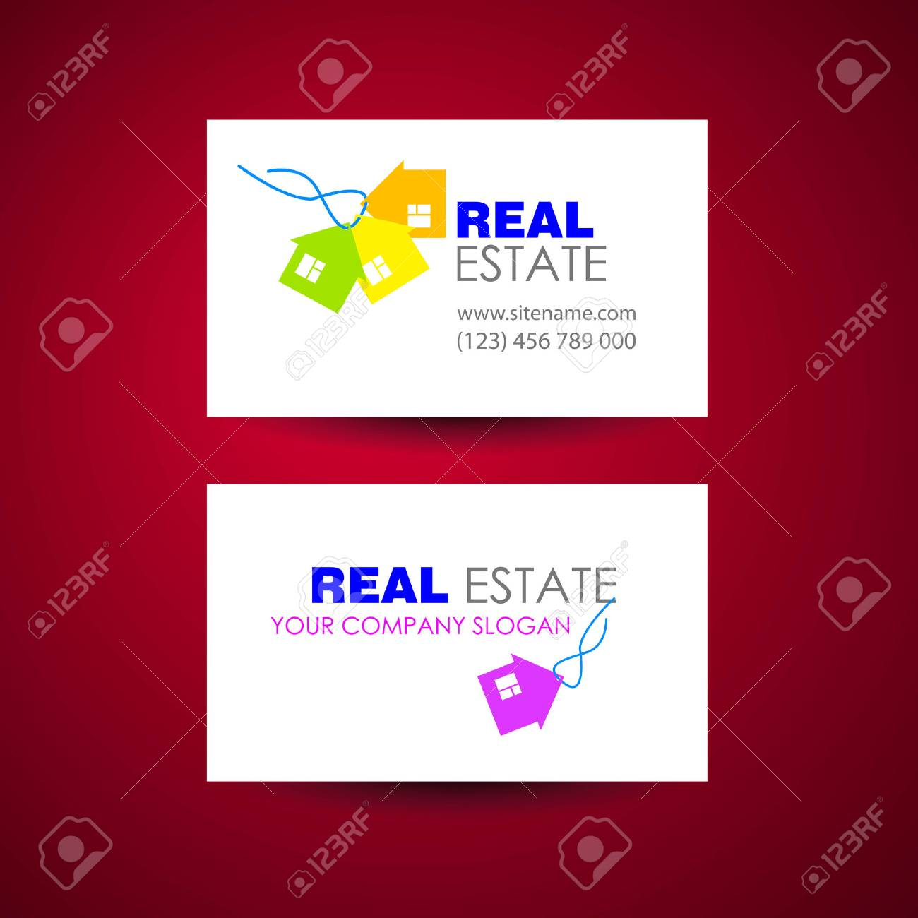Eco home and real estate logo template business card design idea eco home and real estate logo template business card design idea banco de imagens reheart Gallery