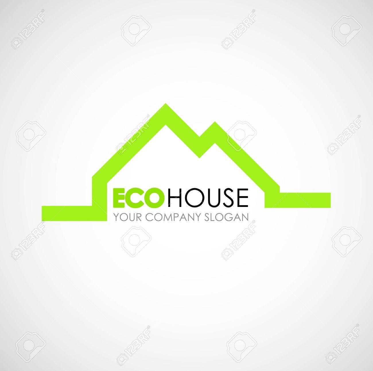 Eco House Logo Design. Ecological Construction Idea. Eco ...