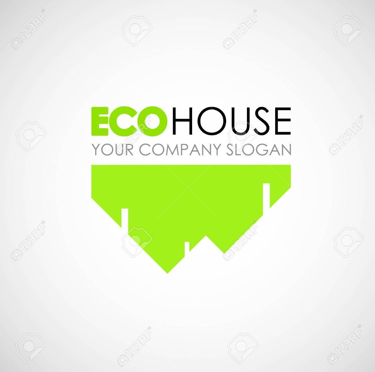 Eco House Logo Design Ecological Construction Idea Eco Architecture
