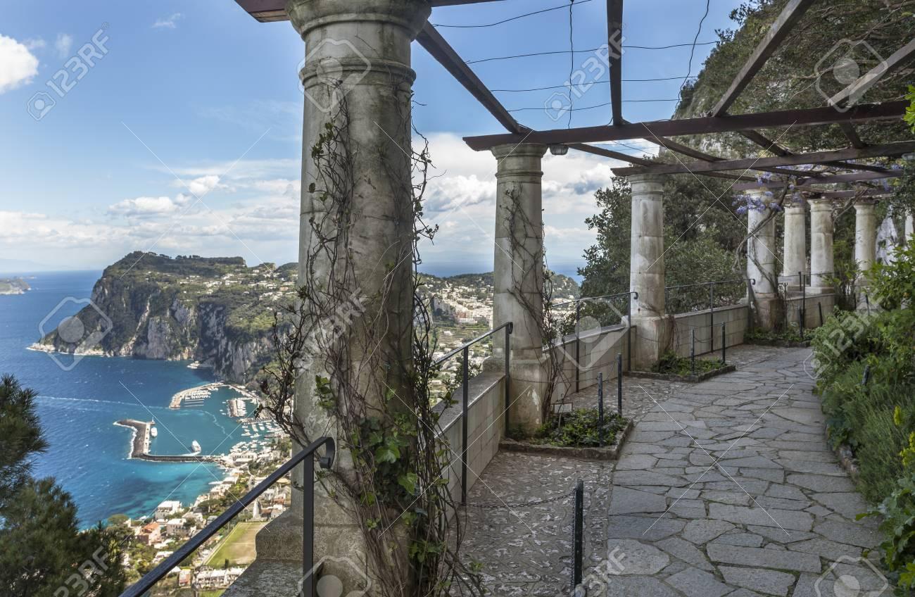 Terrace In Villa San Michele At Anacapri Island Capri