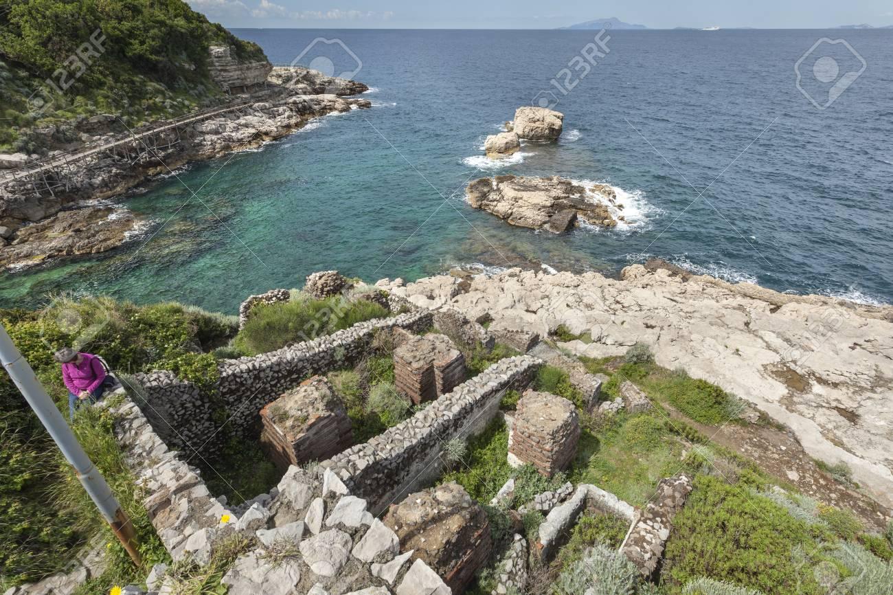 Ruins Of Roman Villa Di Pollio Felice (Bagni Della Regina Giovanna ...