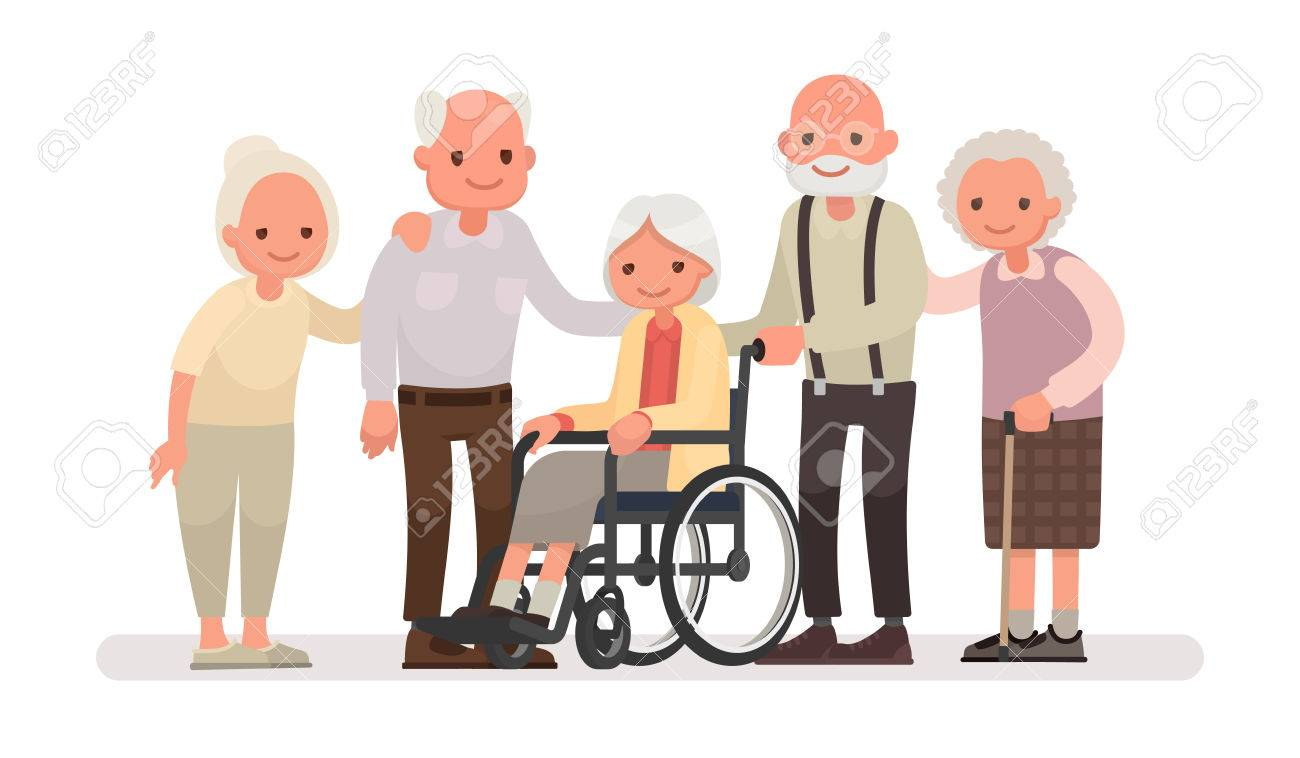 Image of: Folding Electric Group Of Old People On White Background An Elderly Woman Is Sitting In 123rfcom Group Of Old People On White Background An Elderly Woman Is