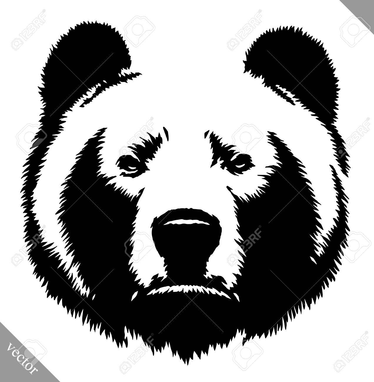 black and white engrave ink draw bear vector illustration royalty rh 123rf com bear factory shop uk beer vector free
