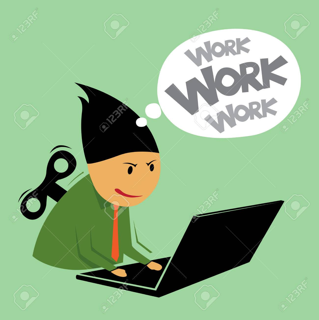 Abstract hard work businessman, Illustration by vector design EPS10 Stock Vector - 23263218