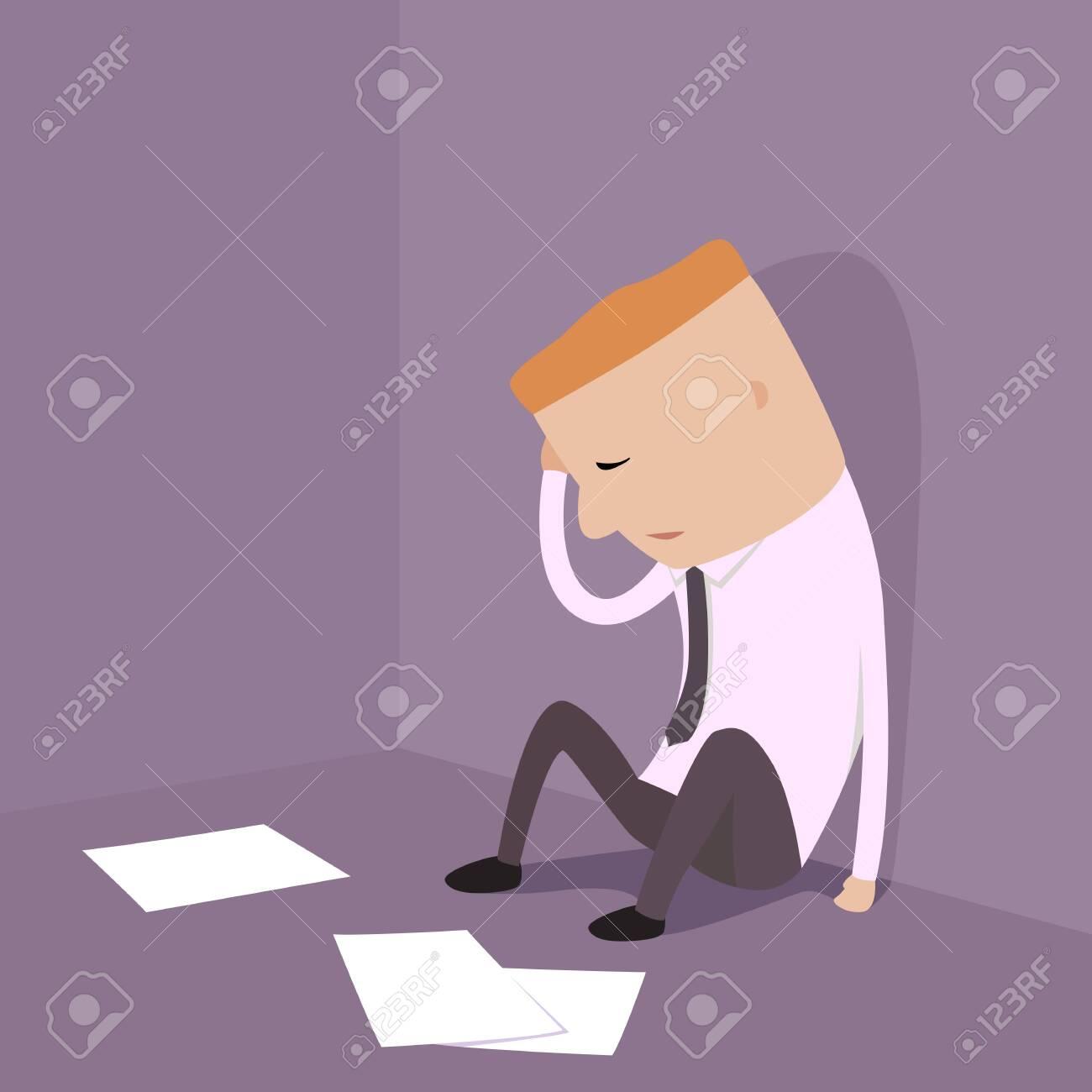 Businessman who bankruptcy illustration - 26375505