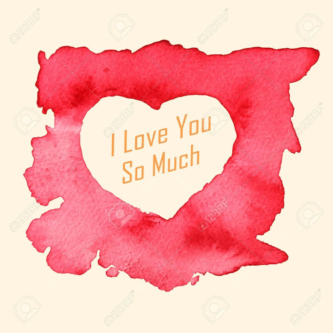 Ich Liebe Dich So Sehr Nachricht Mit Einem Herzformigen Malen Mit