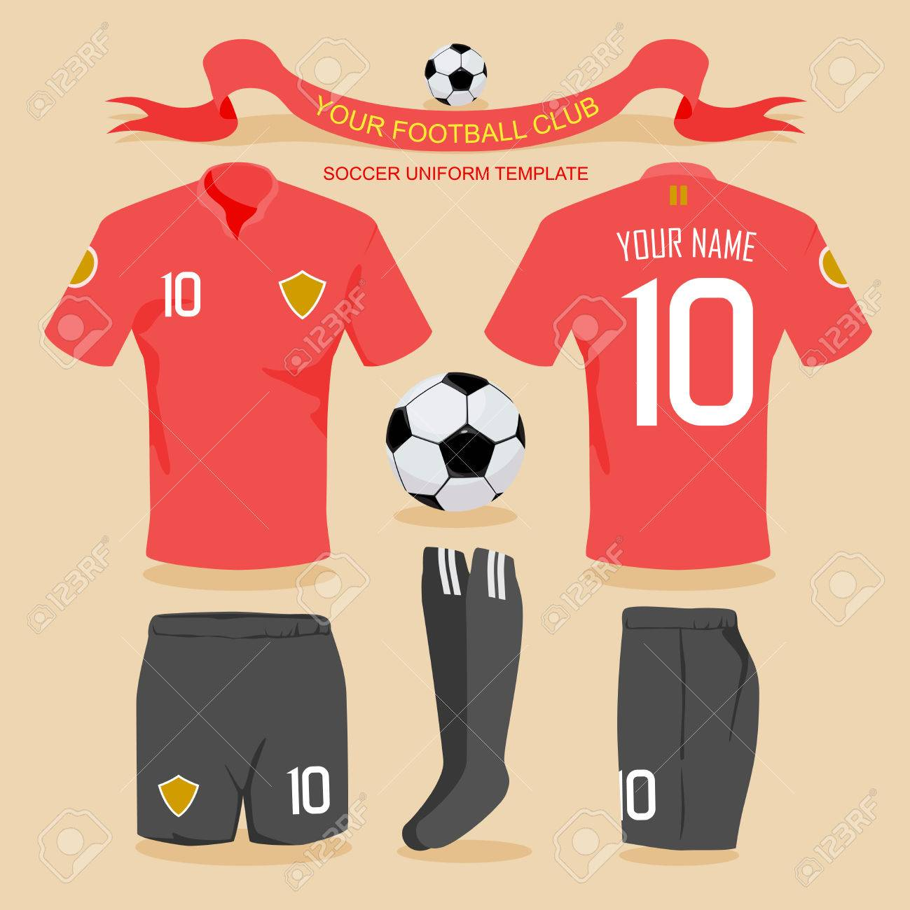 Soccer uniform template for your football club, illustration by vector design. - 40044347