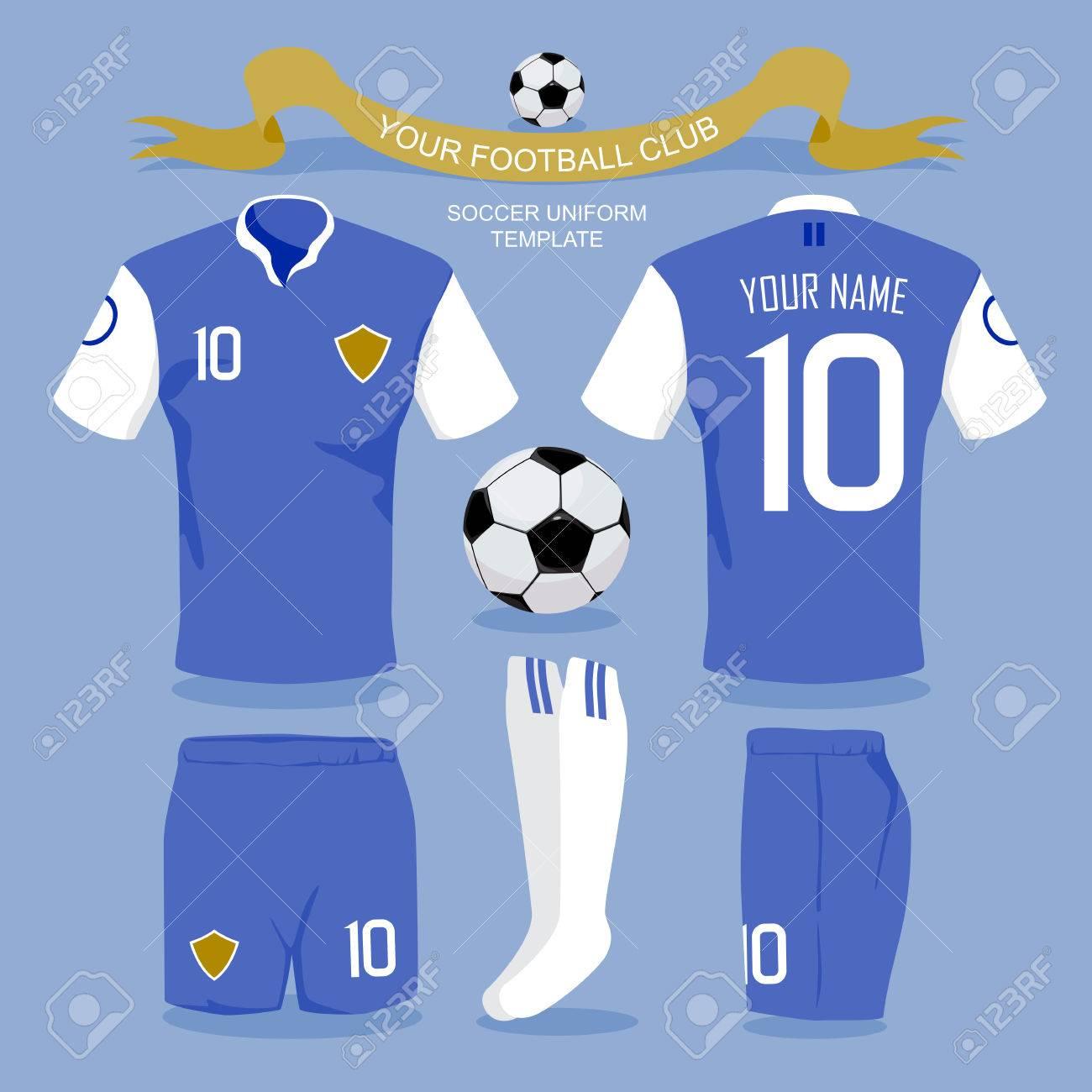 Shirt uniform design vector - Soccer Uniform Template For Your Football Club Illustration Design Stock Vector 40044329