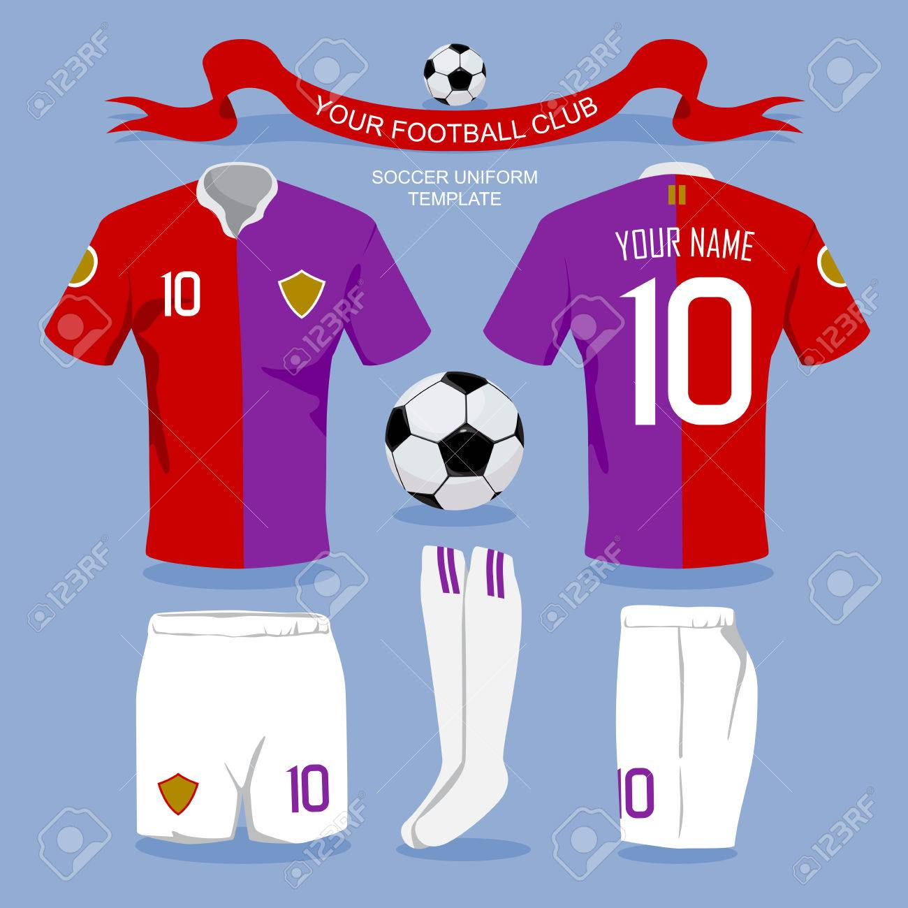 Shirt uniform design vector - Soccer Uniform Template For Your Football Club Illustration Design Stock Vector 41580358