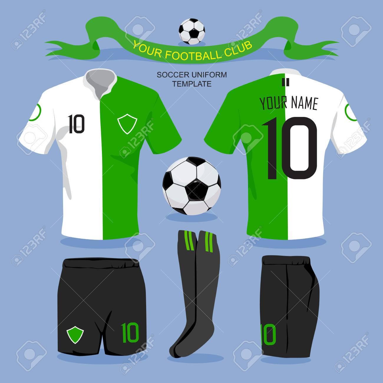 Soccer Uniform Template For Your Football Club Illustration Design Stock Vector