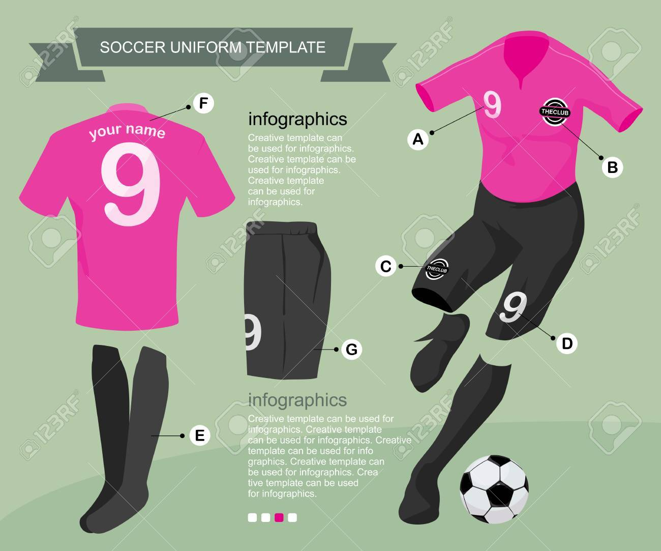 Soccer Uniform Template For Your Football Club Illustration By Vector Design Stock