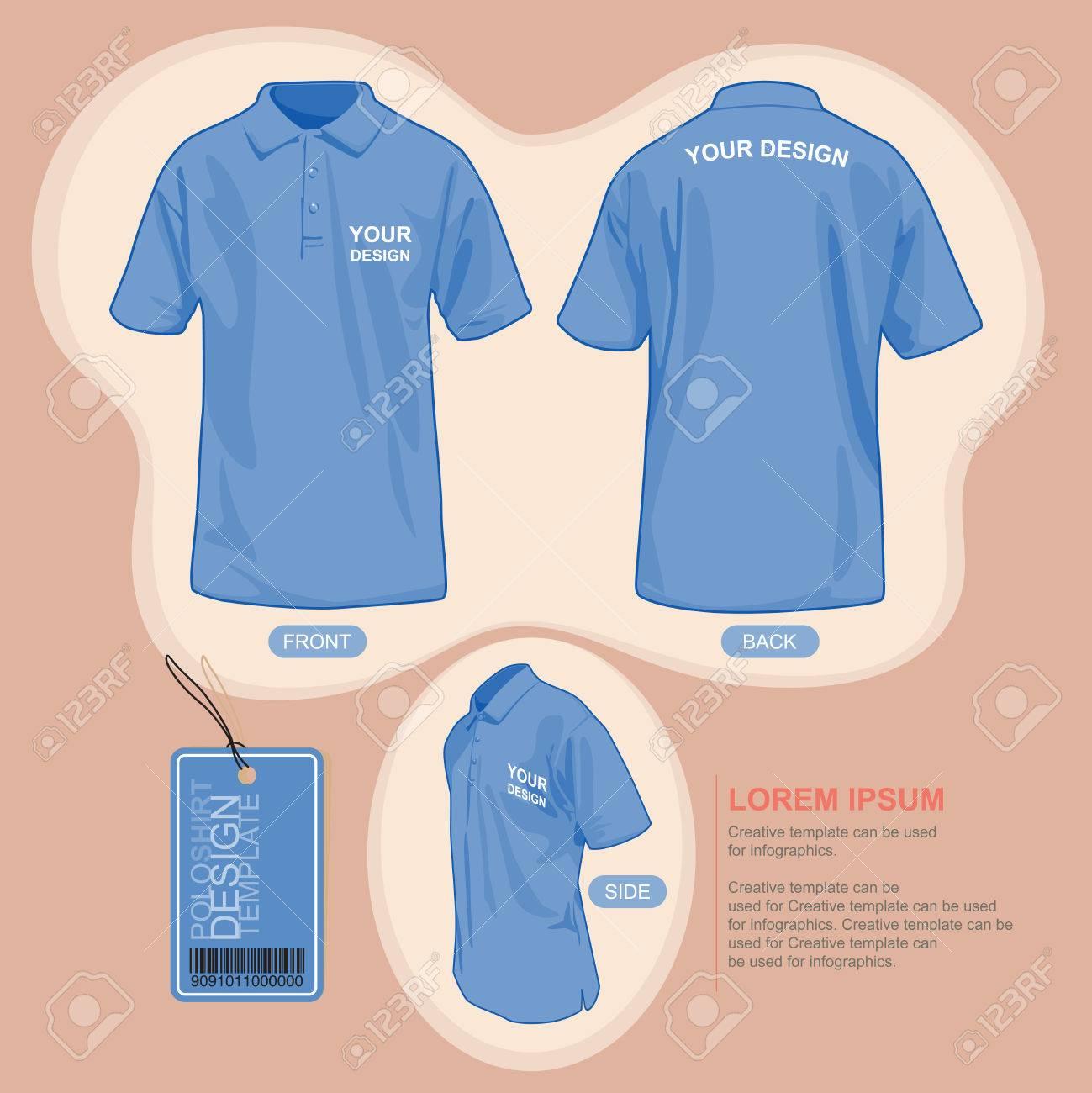 Shirt uniform design vector - Polo Shirt Uniform Template Illustration By Vector Design Stock Vector 49475772