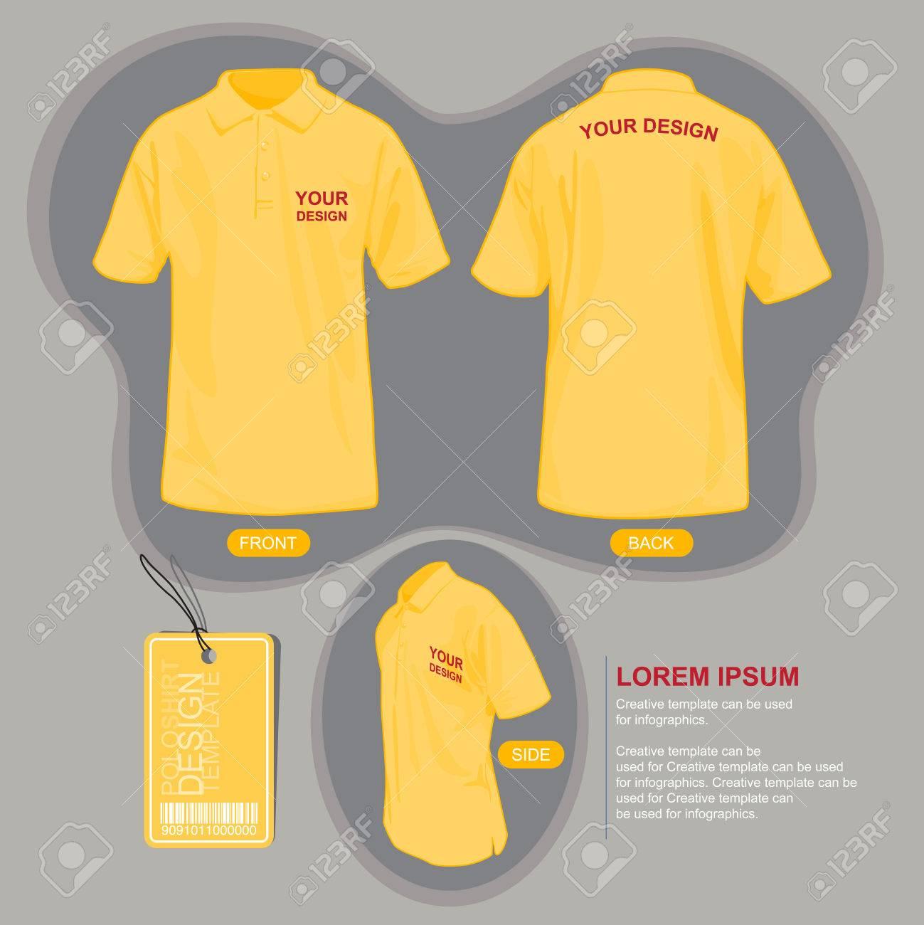 Shirt uniform design vector - Polo Shirt Uniform Template Illustration By Vector Design Stock Vector 49475779