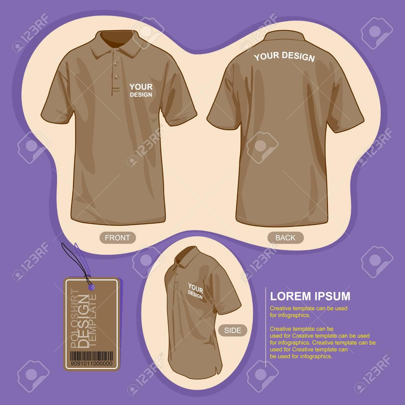 Shirt uniform design vector - Polo Shirt Uniform Template Illustration By Vector Design Stock Vector 49475777