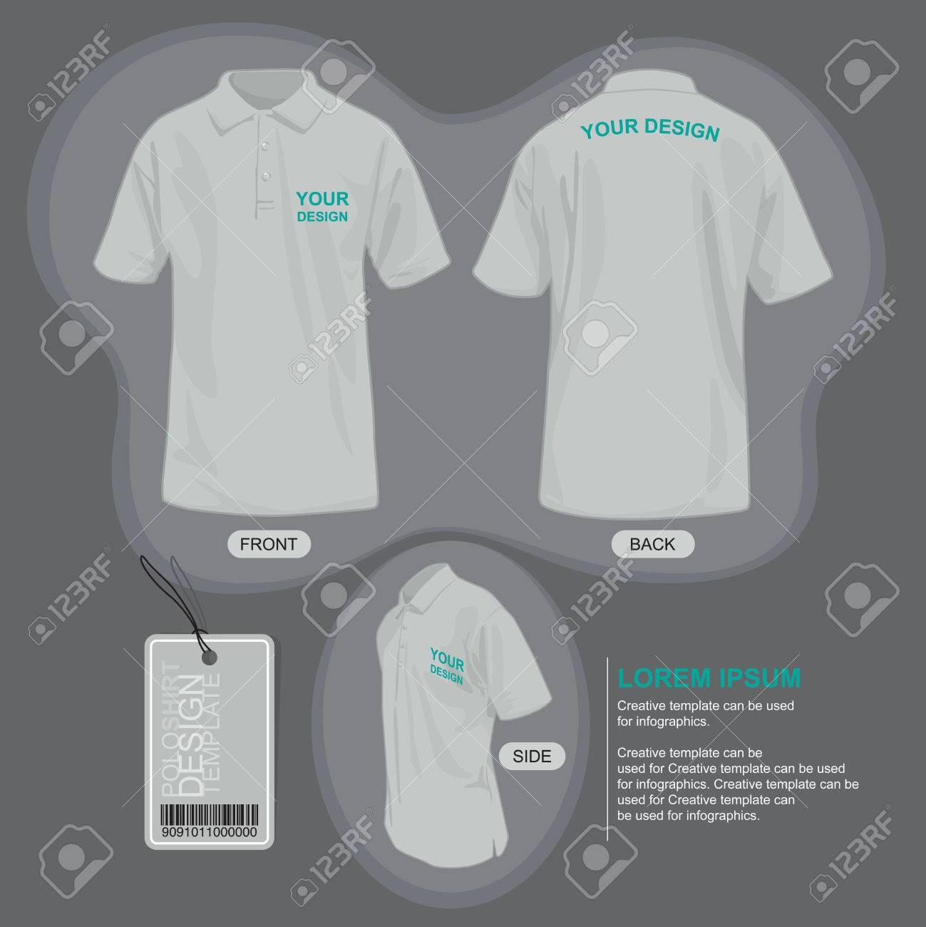 Shirt uniform design vector - Polo Shirt Uniform Template Illustration By Vector Design Stock Vector 49303569