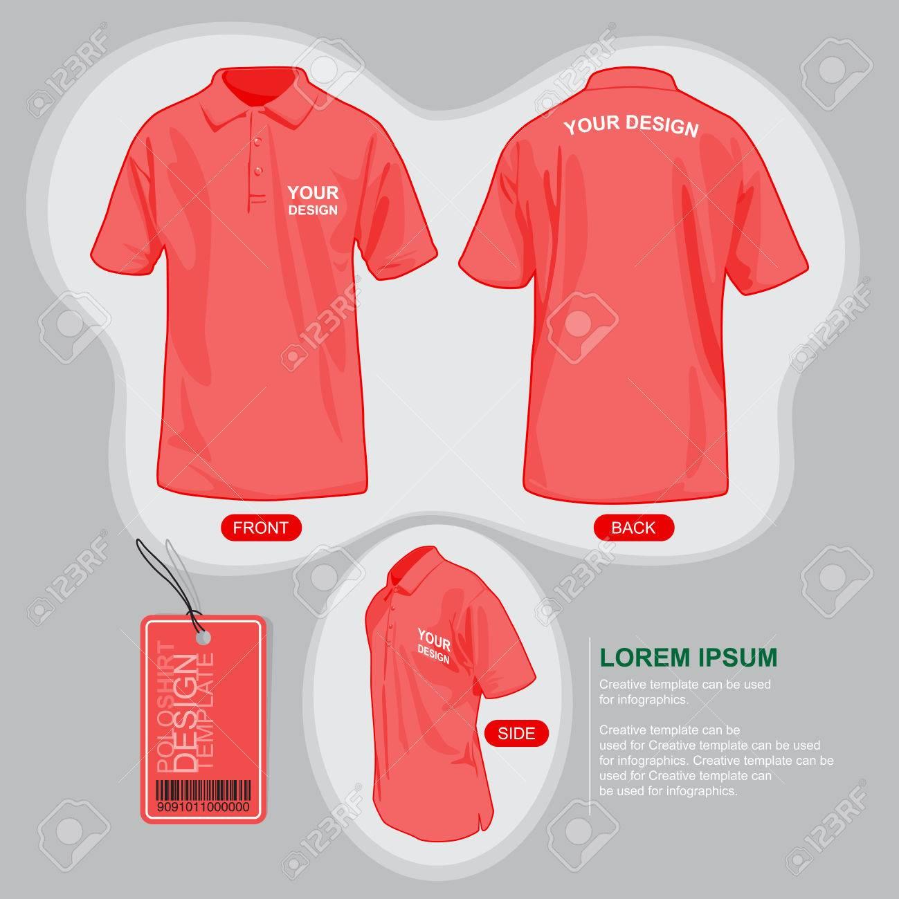 Shirt uniform design vector - Polo Shirt Uniform Template Illustration By Vector Design Stock Vector 49303571