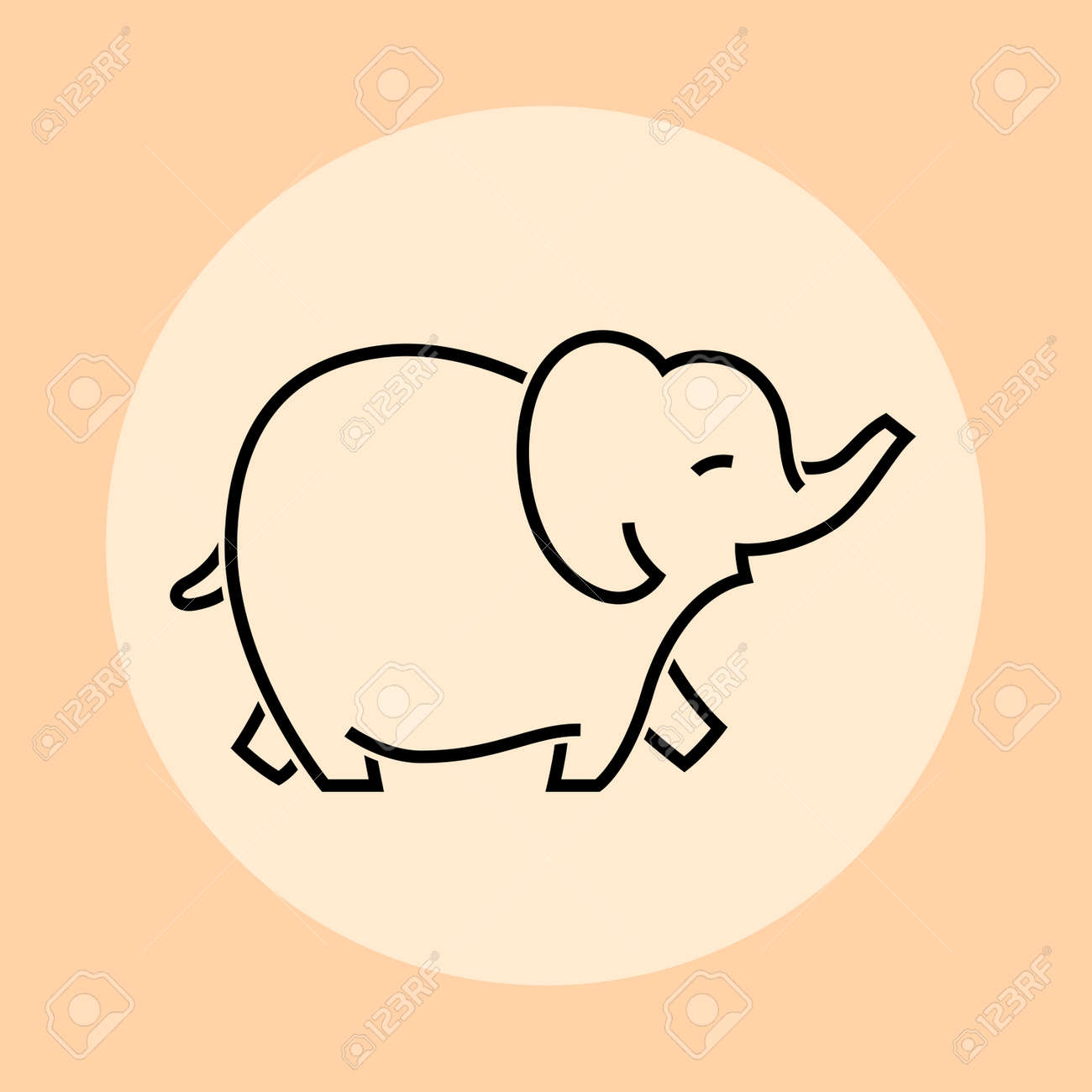 Elephant icon, vector illustration and simple design. - 165896997