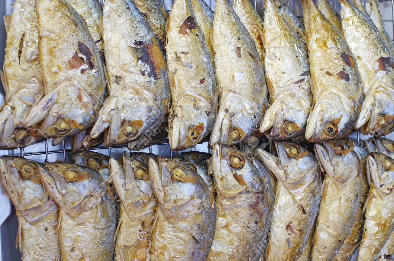 Mackerel Fried Stock Photo - 17948067