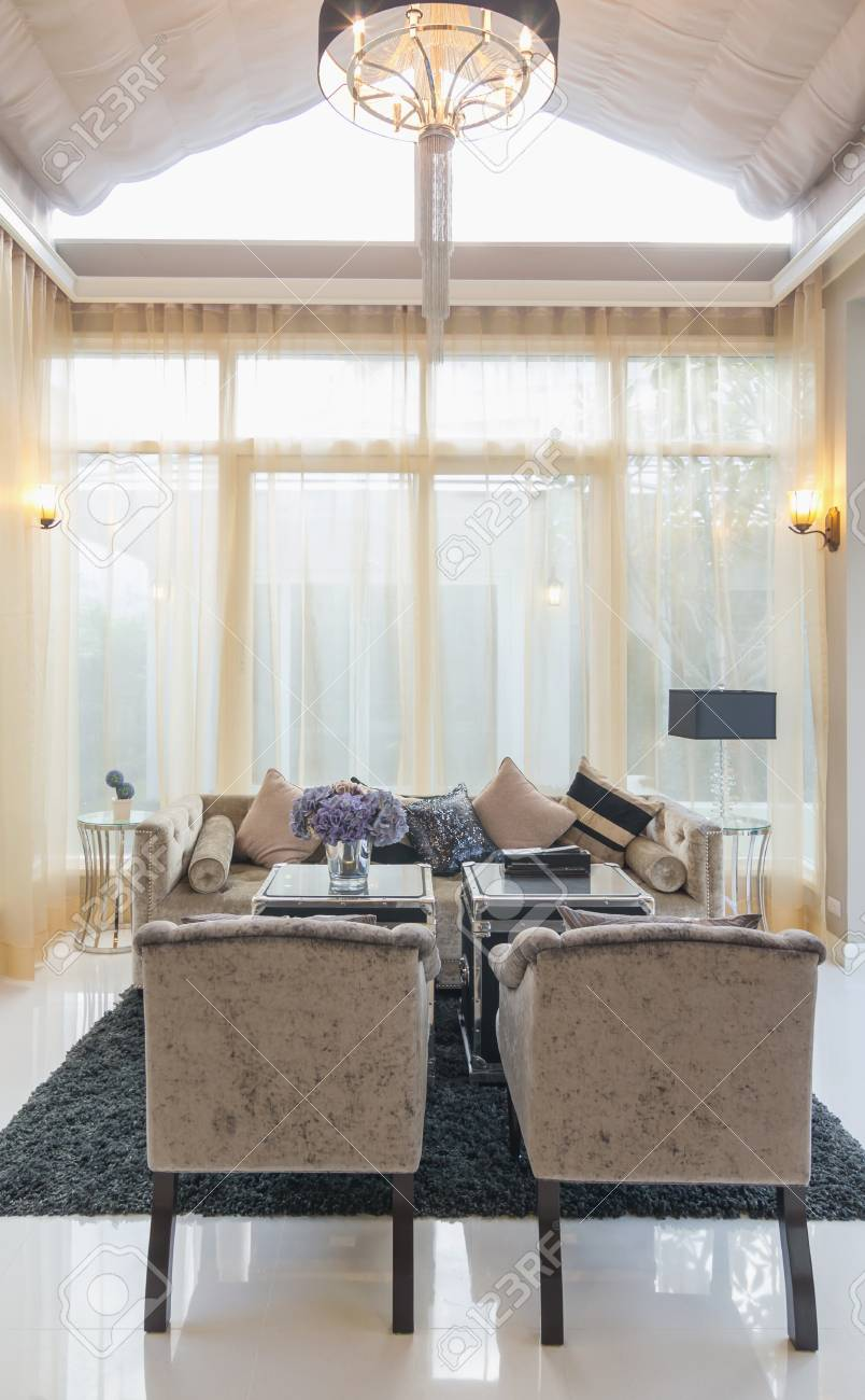 BANGKOK, THAILAND - SEP 23 : Architecture Living Room Interior ...