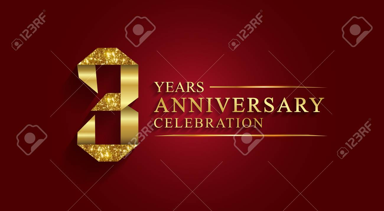 Anniversary 3 Years Anniversary Celebration Logotype Logo Ribbon Royalty Free Cliparts Vectors And Stock Illustration Image 98521754