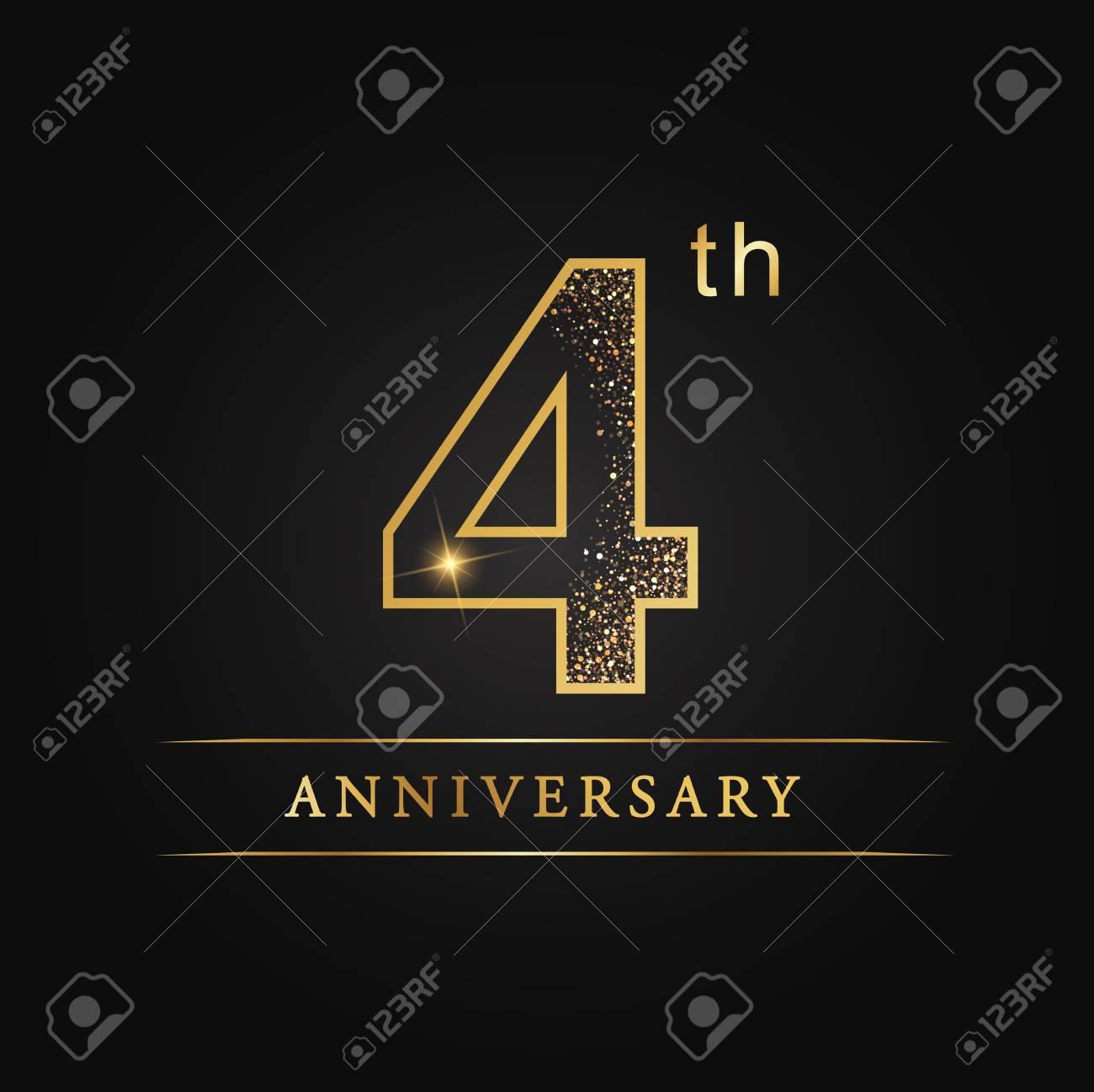 4 Years Anniversary Celebration Logotype 4th Anniversary Logo