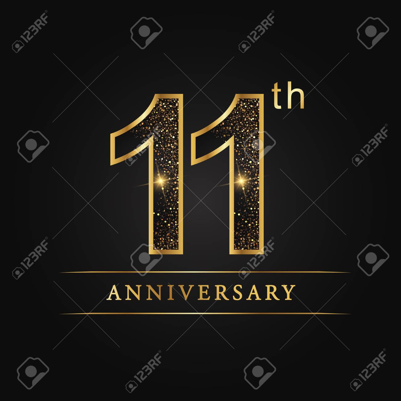 11 Years Anniversary Celebration Logotype 11th Anniversary Logo Royalty Free Cliparts Vectors And Stock Illustration Image 98968429