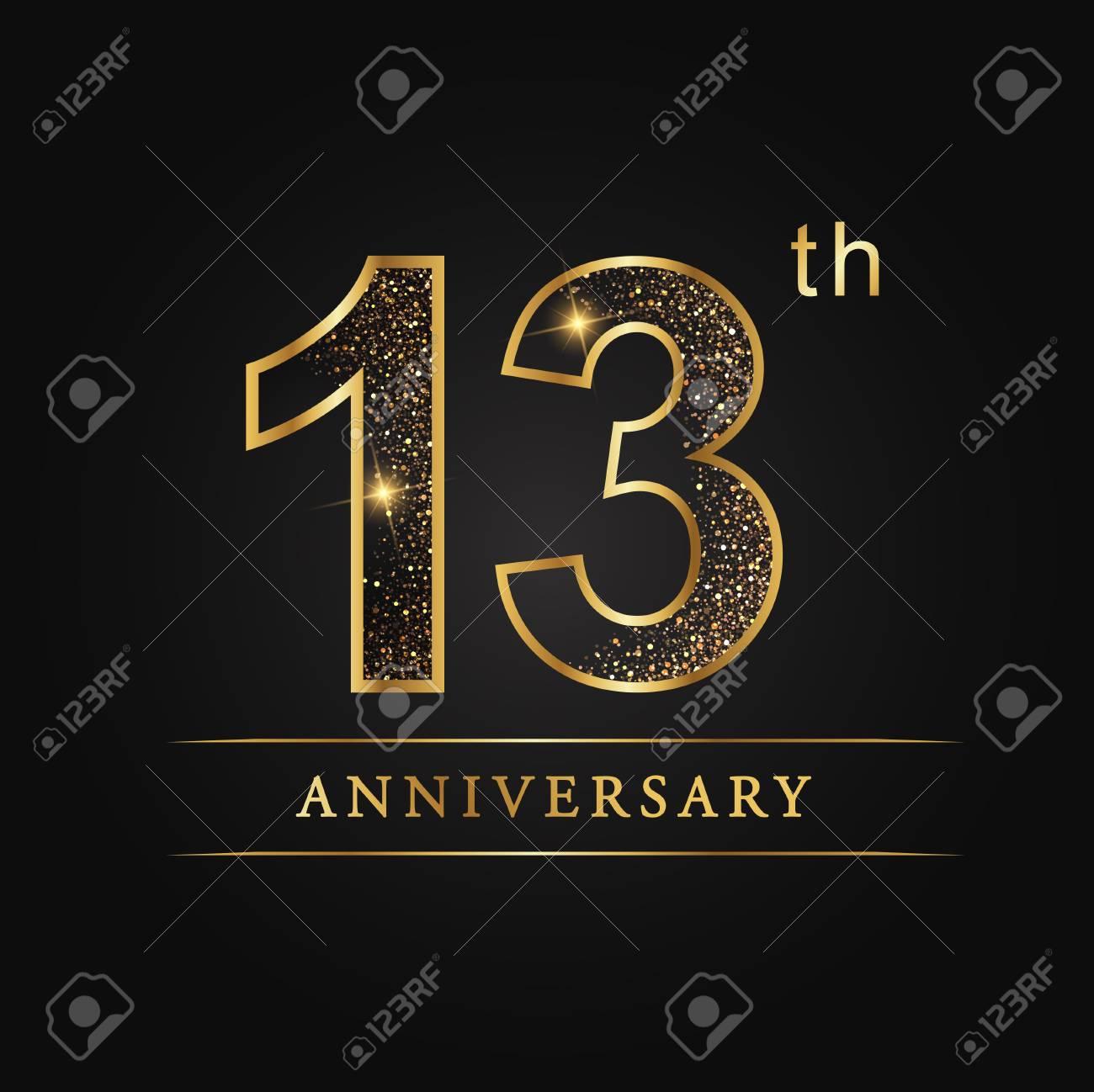 13 Ans Anniversaire De La Fete De Mariage De 13 Ans Logo