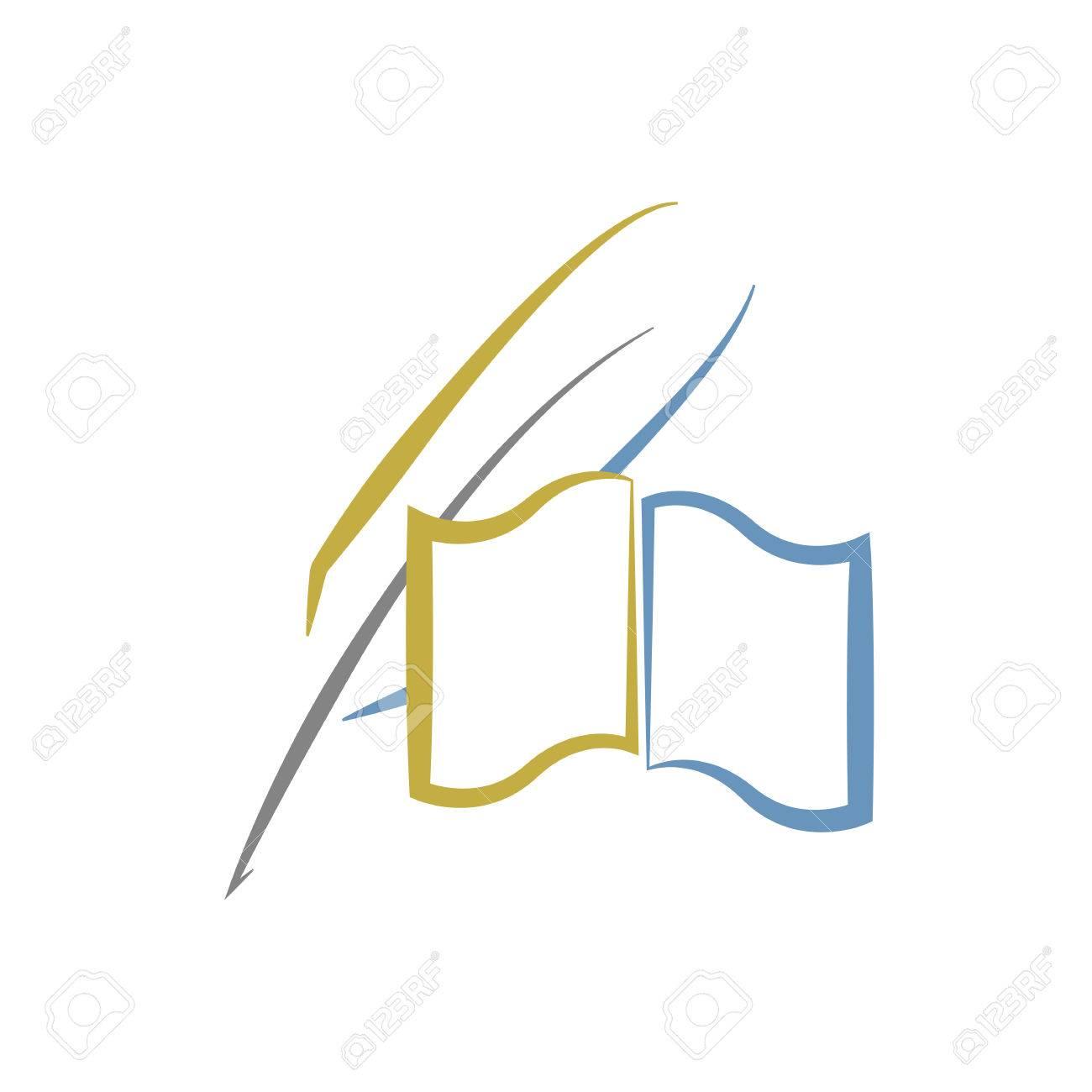 Livre Et La Plume De L Education Ou De La Litterature Logo