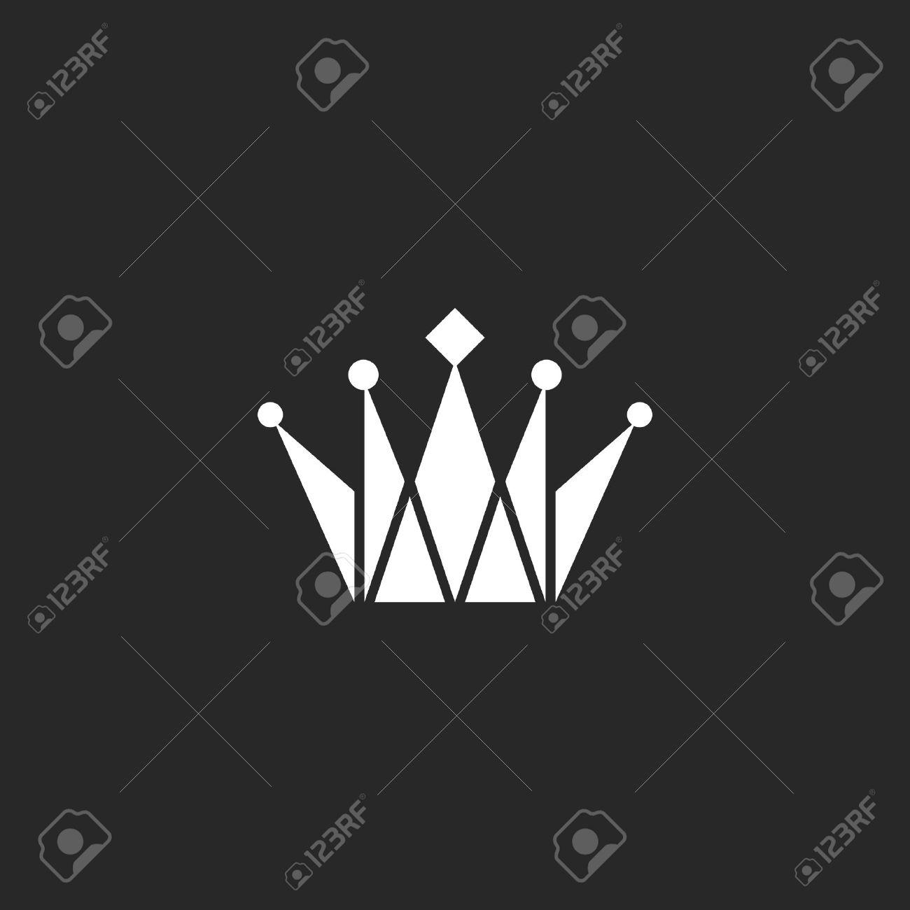 Crown Black And White Logo Royal Symbol Royalty Free Cliparts