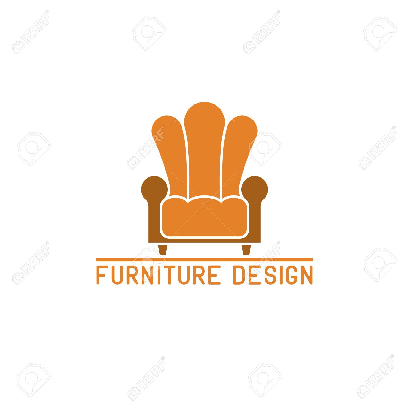 Furniture logo mockup stock vector 43929077