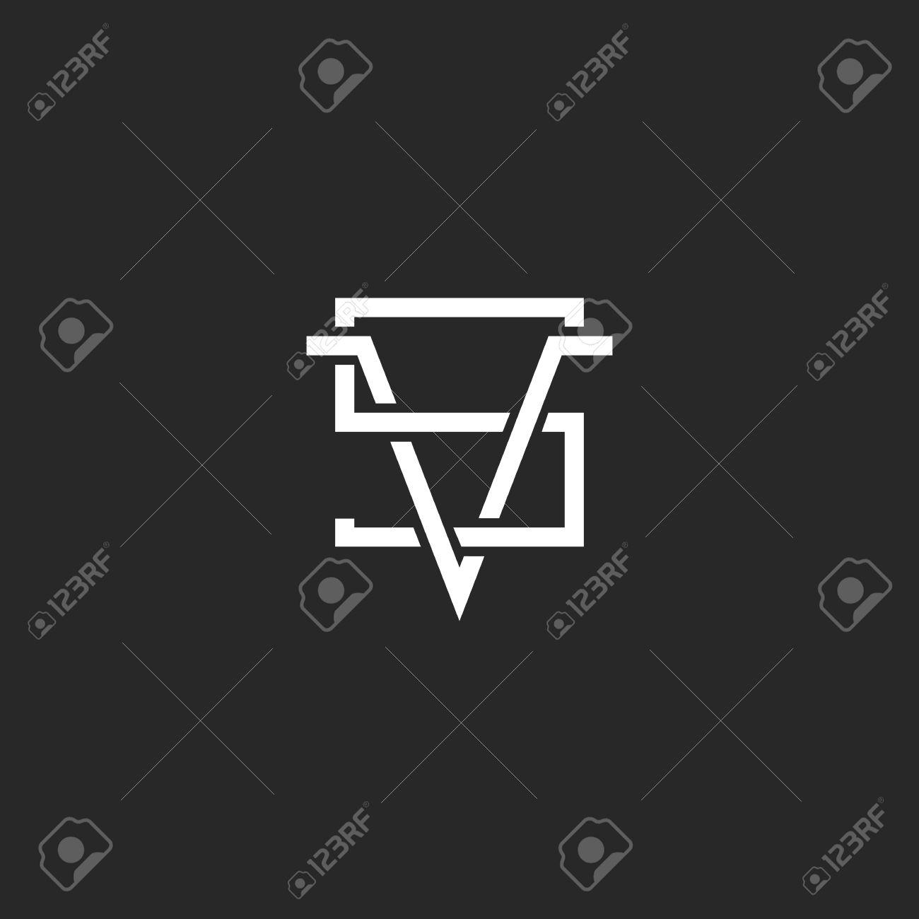 Versus Logo VS Letras Juntas, Inconformista Cruce La Línea Monograma ...