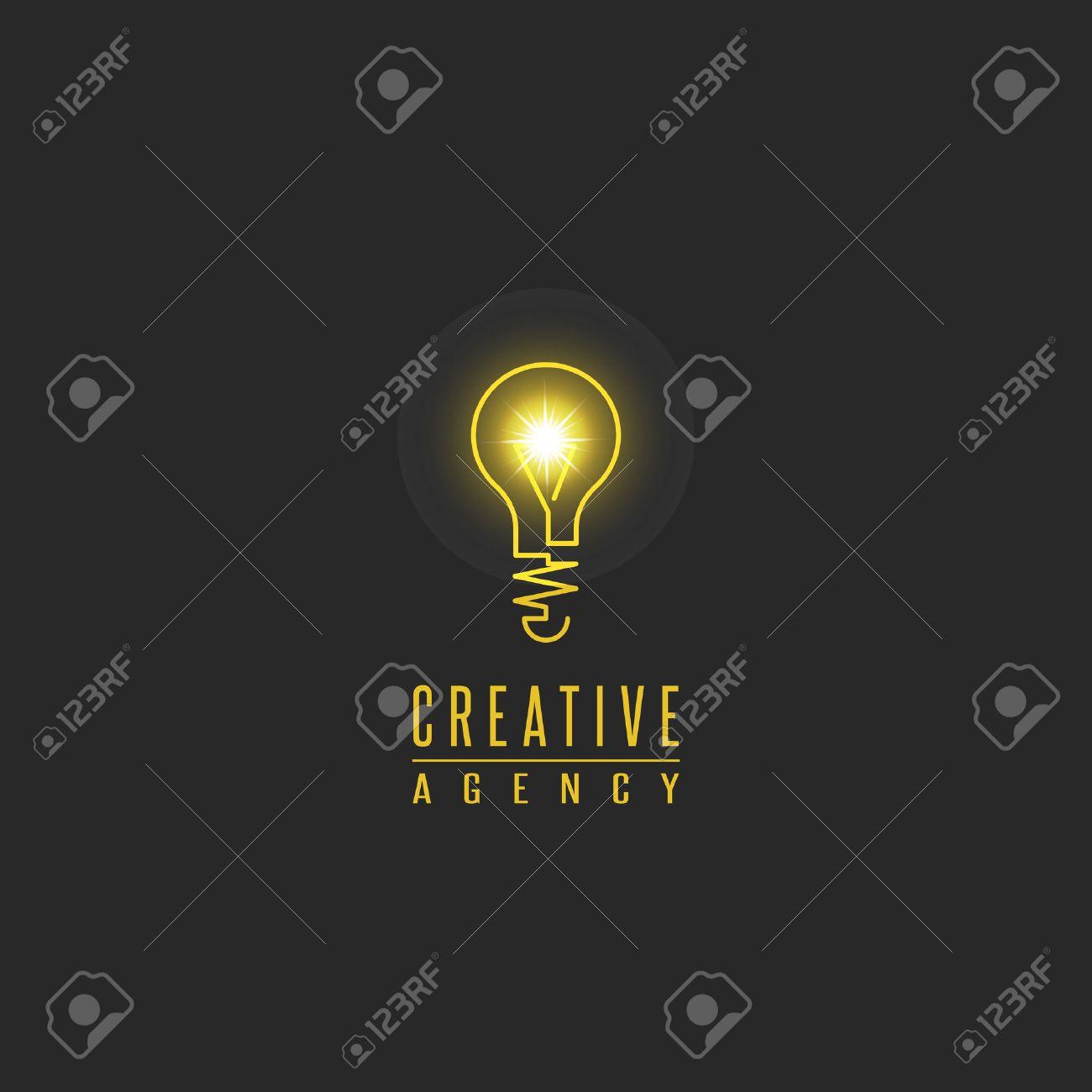 Light bulb logo, lamp shine creative innovation sign, web development, advertising, design agency emblem, idea power technology mark - 47325077