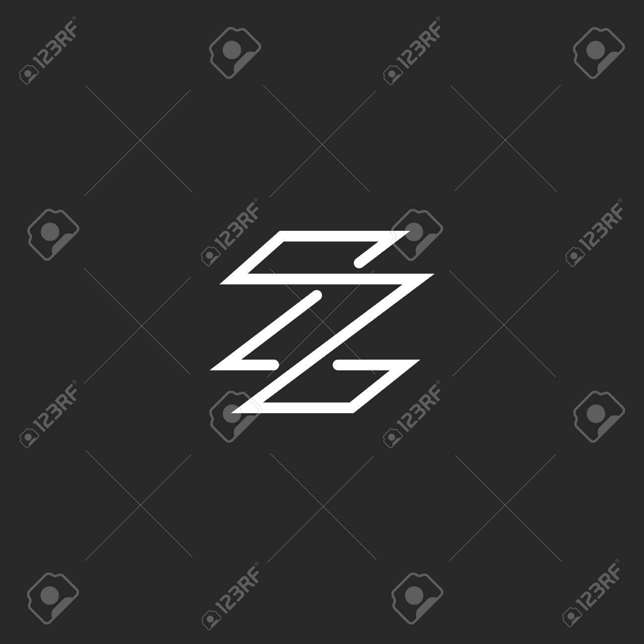 monogram letter z logo minimal style weaving thin line template emblem stock vector 49221597